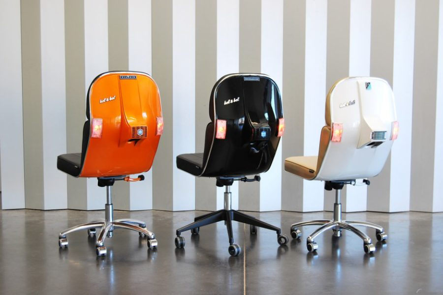 bel-and-bel-orange-black-white-vespa-scooter-chairs-cool-office-furniture